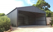 7 x 10 Open Front Shed for storage of boat & caravan