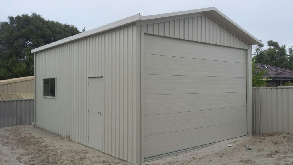5 x 9 Caravan or Boat Shed with sectional door to match house