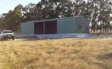 Shed Sliding Doors 1  Busselton Sheds Plus