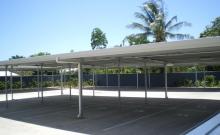 Flat roof carport