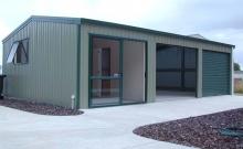 Garage with sliding door