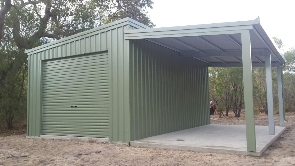 3 x 6 Skillion Shed with 3x6 Lean to